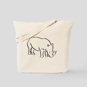 Rhinoceros Drawing Tote Bag