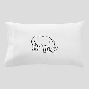 Rhinoceros Drawing Pillow Case