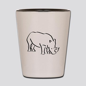 Rhinoceros Drawing Shot Glass