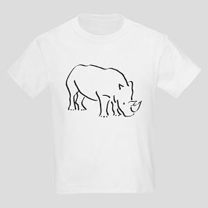 Rhinoceros Drawing T-Shirt