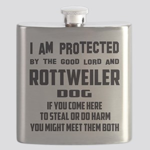 I am protected by the good lord and Rottweil Flask