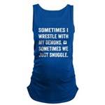 Wrestle With My Demons Maternity Tank Top