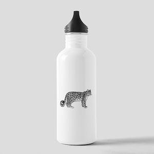Leopard Sketch Sports Water Bottle