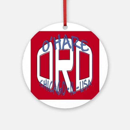 O'Hare Chicago USA Ornament (Round)