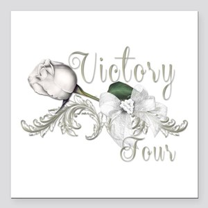 Victory Tour White Rose Catching Fire Square Car M