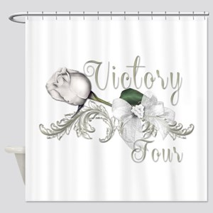 Victory Tour White Rose Catching Fire Shower Curta