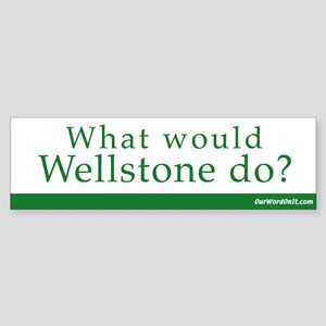 Bumper Sticker: Wellstone what