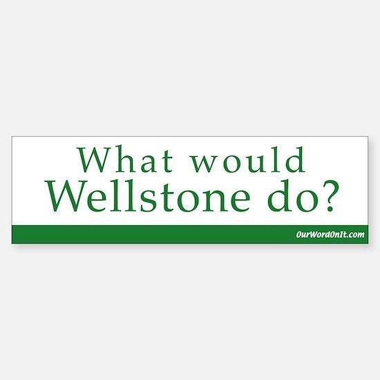 Bumper Sticker: Wellstone what