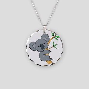 Koala bear Necklace Circle Charm
