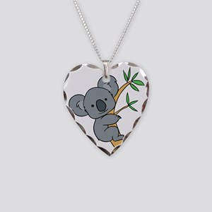 Koala bear Necklace Heart Charm