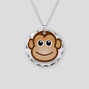 Monkey face Necklace Circle Charm