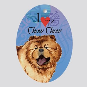 Chow Chow Oval Ornament