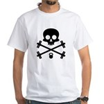 Skull and Cross Fitness White T-Shirt