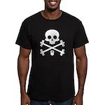 Skull and Cross Fitness Men's Fitted T-Shirt (dark