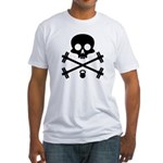 Skull and Cross Fitness Fitted T-Shirt