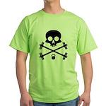 Skull and Cross Fitness Green T-Shirt