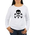 Skull and Cross Fitness Women's Long Sleeve T-Shir