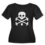 Skull and Cross Fitness Women's Plus Size Scoop Ne