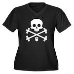 Skull and Cross Fitness Women's Plus Size V-Neck D