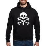Skull and Cross Fitness Hoodie (dark)