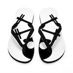 Skull and Cross Fitness Flip Flops