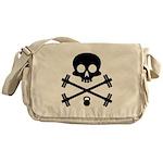 Skull and Cross Fitness Messenger Bag