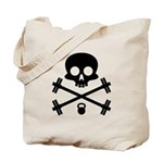 Skull and Cross Fitness Tote Bag