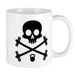 Skull and Cross Fitness Mug