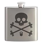 Skull and Cross Fitness Flask