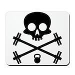 Skull and Cross Fitness Mousepad