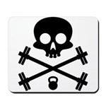 Skull and Cross Fitness Mousepad