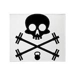 Skull and Cross Fitness Throw Blanket