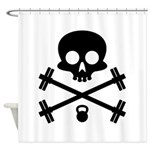 Skull and Cross Fitness Shower Curtain