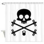 Skull and Cross Fitness Shower Curtain
