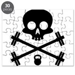 Skull and Cross Fitness Puzzle