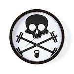 Skull and Cross Fitness Wall Clock
