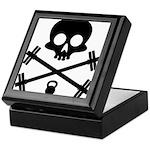 Skull and Cross Fitness Keepsake Box