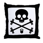 Skull and Cross Fitness Throw Pillow