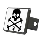 Skull and Cross Fitness Rectangular Hitch Cover