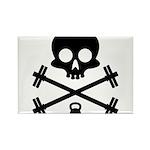 Skull and Cross Fitness Rectangle Magnet (10 pack)