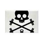 Skull and Cross Fitness Rectangle Magnet (100 pack