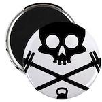 Skull and Cross Fitness Magnet