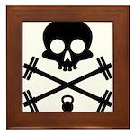 Skull and Cross Fitness Framed Tile