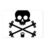 Skull and Cross Fitness Postcards (Package of 8)