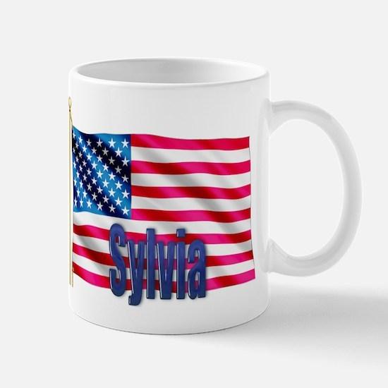 Sylvia American Flag Gift Mug
