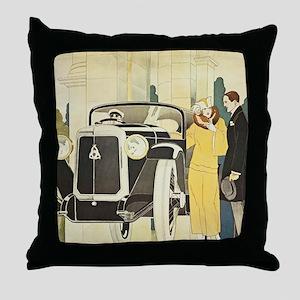 Art Deco Rendevous Throw Pillow