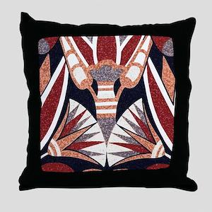 Art Deco Geometric Floral Throw Pillow