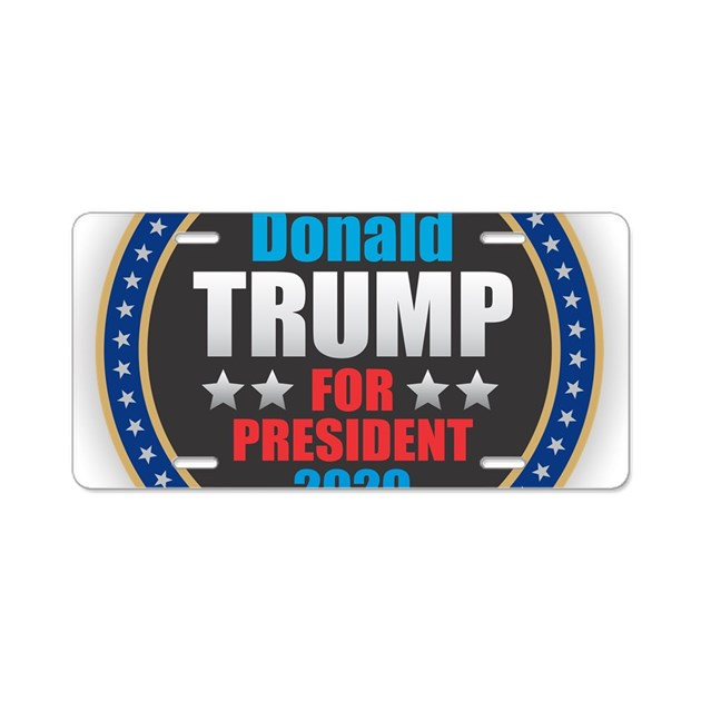 Trump Tax Metal: Donald Trump For President Aluminum License Plate By Admin