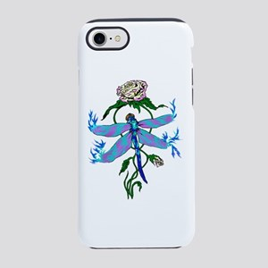 Dragonfly and peace rose iPhone 7 Tough Case
