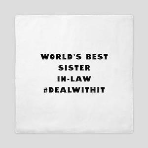 World's Best Sister-In-Law (Hashtag) Queen Duvet